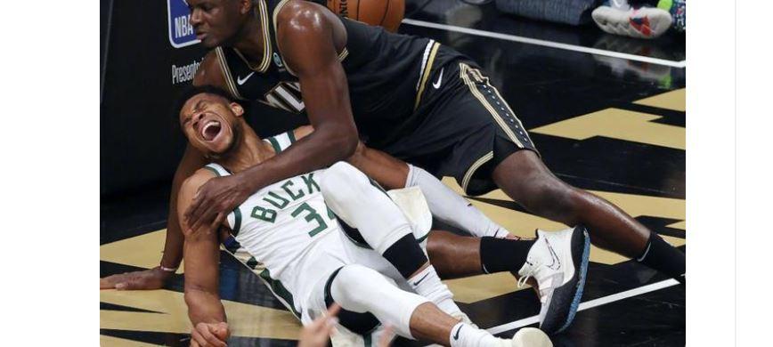 【NBA】多灾多难的季后赛?字母哥膝盖45度严重反转,伤势相当不乐观